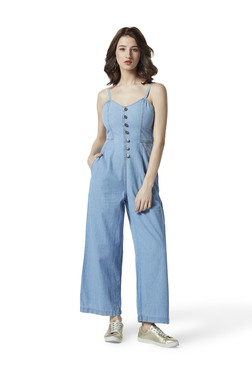 ea947c0fb73 Nuon by Westside Blue Chambray Jumpsuit