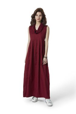 Bombay Paisley by Westside Maroon A-Line Dress 10f0d3b72