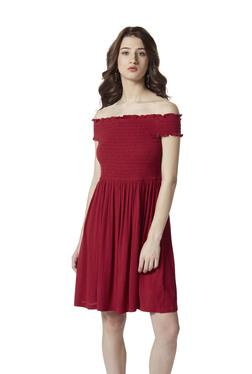 ce039c76052c Nuon by Westside Red Off-Shoulder Rosh Dress