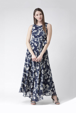 15f42a664eb The Vanca Navy Printed Maxi Dress
