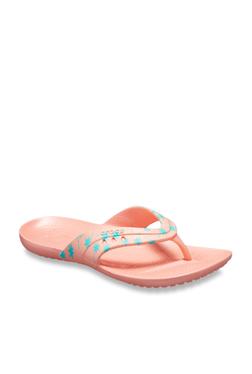 a0a978d16ff4 Crocs Kadee Peach Flip Flops