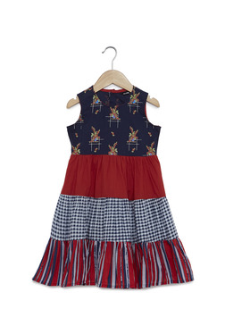 Zudio Kids Navy Tiered Dress 91553644a