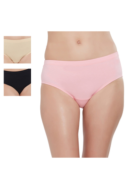 67e751f9232d Soie Pink, Black & Beige Cotton Hipster Panty (Pack Of ...