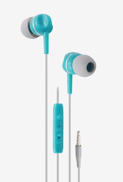 Zebronics EM800 Wired Earphones with Mic (Blue)