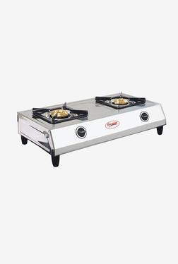 Prestige Shakti 40054 2 Burners Gas Stove (Silver)