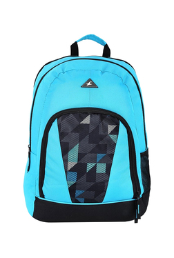c9a1cc26739d Fastrack Sky Blue   Black Printed Polyester Laptop Backpack