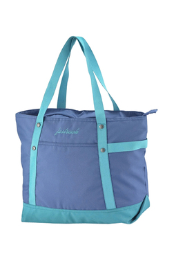 Fastrack Blue Solid Polyester Tote 5897a7082163a