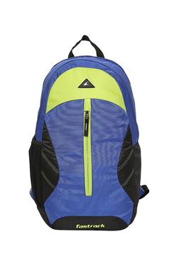 Fastrack Blue   Black Solid Polyester Backpack f26a5dcfb3ef2