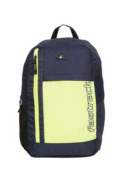 8837440a9e10 Fastrack Navy   Green Solid Polyester Backpack