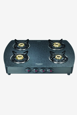 Prestige Premia GTS 4 D 40271 4 Burners Gas Stove (Black)