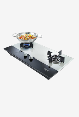 Prestige PHTS 02 AI 40556 2 Burners Gas Stove (Black/White)