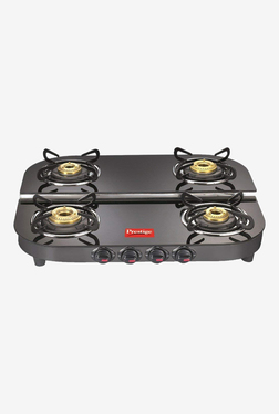 Prestige Royale Plus DGT 04 40281 4 Burners Gas Stove (Black)