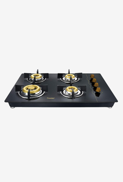 Prestige Hobtop Gold PHTG 04 40562 4 Burners Gas Stove (Black)