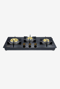 Prestige Hobtop Gold PHTG 03 E-Series 40565 3 Burners Gas Stove (Black)