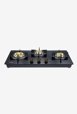 Prestige Hobtop Gold PHTG 03 40563 3 Burners Gas Stove (Black)