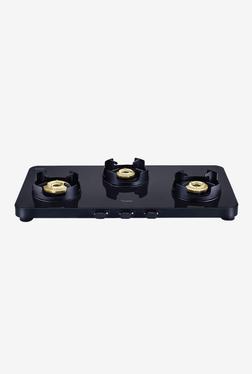 Prestige Edge PEBS 03 L 40186 3 Burners Gas Stove (Black)