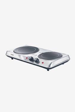Prestige Radiant PRH 02 SS 42275 2 Tops 2000W Radiant Cooktop (Silver/Black)