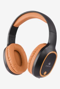 Zebronics Thunder Bluetooth Over The Ear Headphone (Orange/Black)