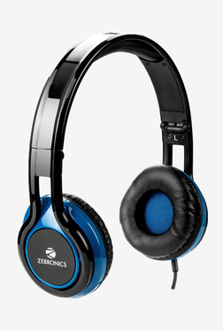 Zebronics Buzz Over The Ear Headphone with Mic (Black/Blue)