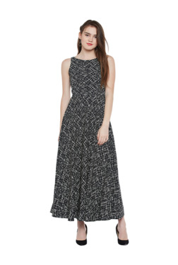 b7b74a1d15d Latin Quarters Black Printed Maxi Dress