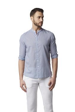 ece5459d7e6 ETA by Westside Blue Resort Fit Check Shirt