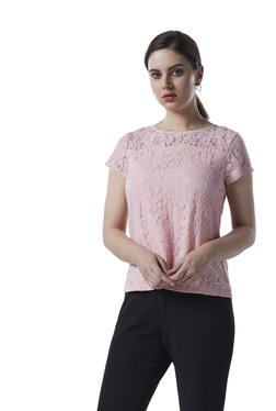 d20b4a352cf Wardrobe by Westside Pink Lace Detailed Top