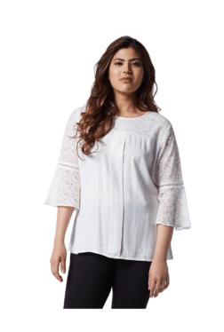 8de9f916a3780 Gia curve by Westside White Lace Blouse