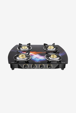 Pigeon Spark Oval Glitter 4 Burner Gas Cooktop (Black)