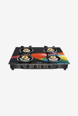 Pigeon Spark Square Wave 4 Burner Gas Cooktop (Black)