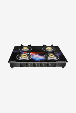 Pigeon Spark Square Glitter 4 Burner Gas Cooktop (Black)