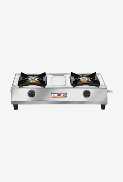 Pigeon Pluto 2 Burner Gas Cooktop (Silver)