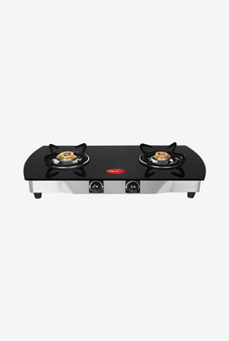 Pigeon Blackline Oval 2 Burner Gas Cooktop (Black)