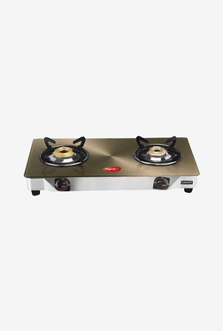Pigeon 2 Burner Gas Cooktop (Gold)