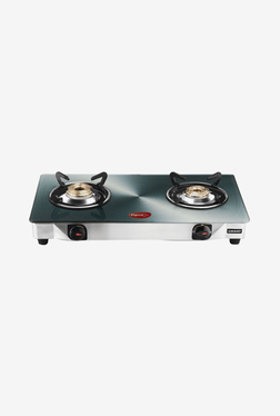 Pigeon 2 Burner Gas Cooktop (Grey)