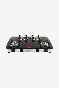 Pigeon Blackline Oval ZZ 4 Burner Gas Cooktop (Black)