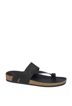4109e1227583d5 SOLEPLAY by Westside Black Faux-Leather Sandals
