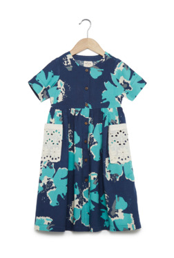 2a6e33485f5 Utsa Kids by Westside Navy Floral Fit-And-Flare Dress