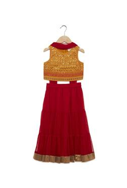 bad376e2dbd Utsa Kids by Westside Red Floral Ghagra Dupatta Choli Set