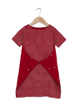 ace927102a1 Utsa Kids by Westside Red Heart Printed Envelope Dress