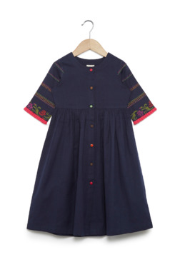 0e7040c3c92 Utsa Kids by Westside Navy Fit-And-Flare Dress