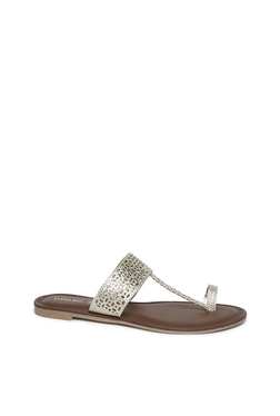 6e8acb5304 LUNA BLU by Westside Gold Laser Cut Kolhapuri Sandals