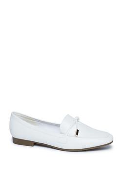 LUNA BLU by Westside White Faux Leather Loafers c3f228c652