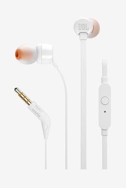JBL T160 Wired Headphones with Mic (White)