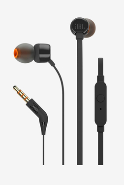 JBL T160 Wired Headphones with Mic (Black)
