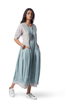 Bombay Paisley by Westside Turquoise Printed A-line Dress 1be1ea399