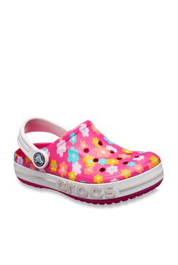14823f5c811 Crocs Kids Bayaband Pink   White Back Strap Clogs