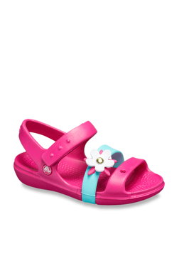 9b932540a6836c Crocs Kids Keeley Charm Fuchsia Ankle Strap Sandals