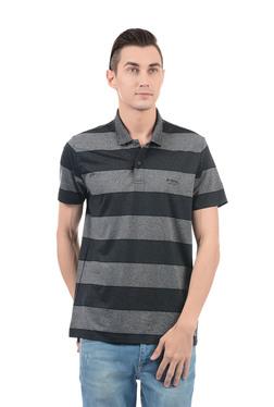 d3955b8b3 TATACLIQ. U S Polo Assn U.S. Polo Assn. Grey & Black Regular Fit Polo T- Shirt