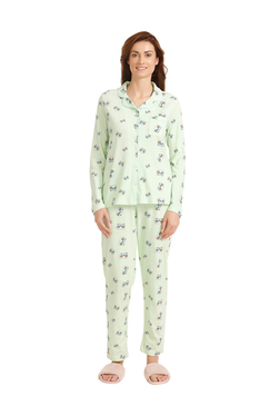 8045c0afa4 Zivame Green Cotton Printed Pyjama Set