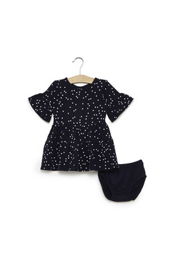 badebd7a635759 Baby HOP by Westside Navy Polka Dot Dress With Briefs